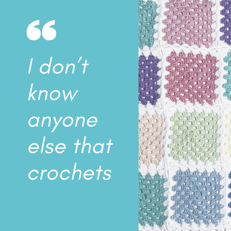 I don't know anyone else that crochets